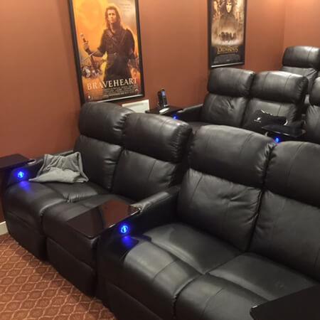 Theaterseat Seatcraft Sienna Dual-Loveseat Home Theater